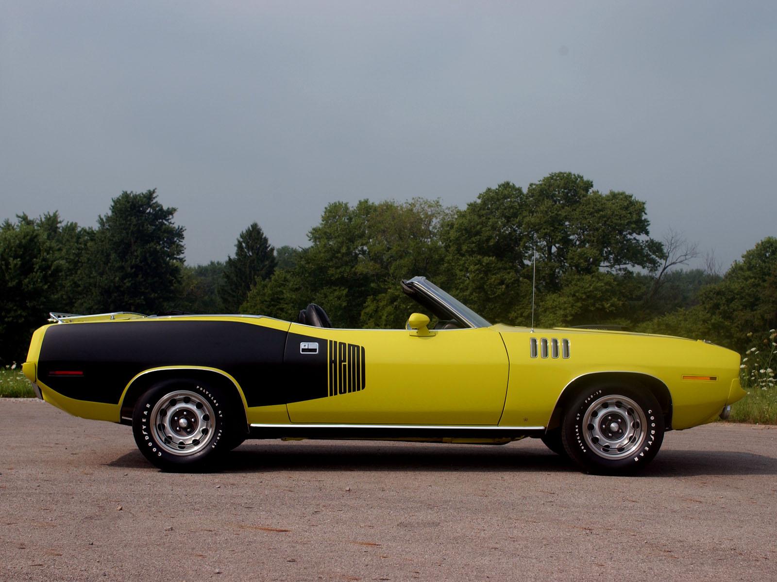 Обои плимут, желтый, кабриолет, Plymouth, cuda, мускул. Автомобили foto 12