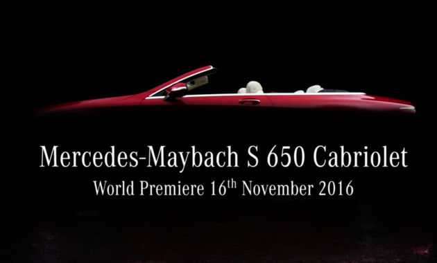 Mercedes-Maybach поведал о своем самом дорогом кабриолете