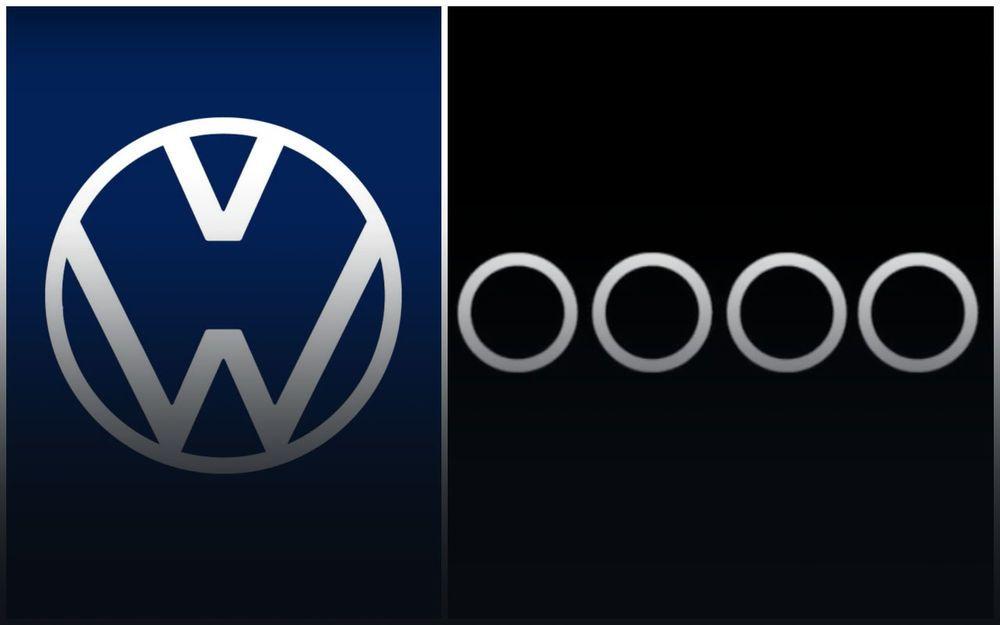 Компании Audi и Volkswagen поменяли брендовые знаки