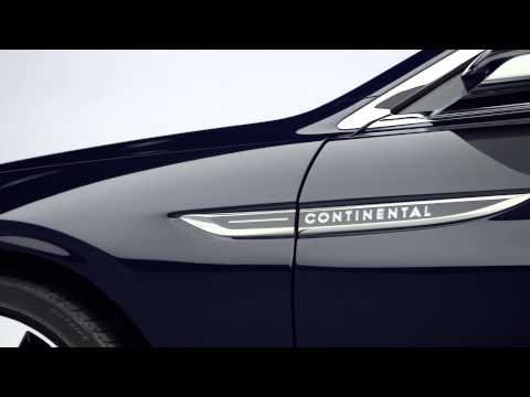 2015 Lincoln Continental concept exterior b-roll video
