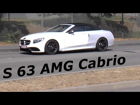 Mercedes-AMG S63 Cabriolet spied briefly during final testing