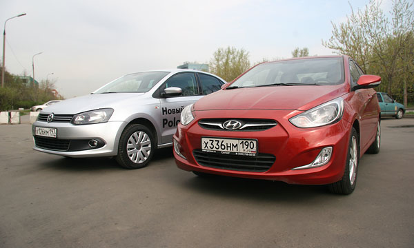 Hyundai Solaris vs VW Polo Sedan